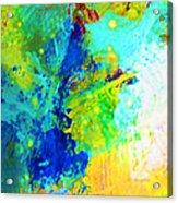 Color Wash Abstract Acrylic Print