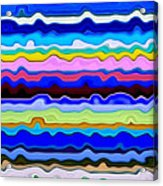Color Waves No. 4 Acrylic Print