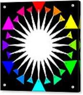 Color Wheel Burst Acrylic Print