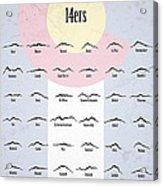 Colorado 14ers Poster Acrylic Print