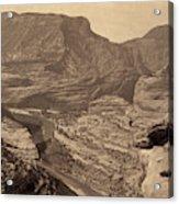 Colorado Canyons, 1872 Acrylic Print