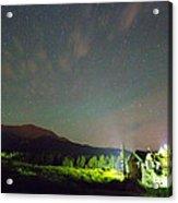 Colorado Chapel On The Rock Dreamy Night Sky Acrylic Print
