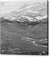 Colorado Continental Divide Panorama Hdr Bw Acrylic Print