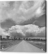 Colorado Country Road Stormin Skies Bw Acrylic Print by James BO  Insogna