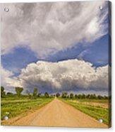Colorado Country Road Stormin Skies Acrylic Print