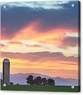 Colorado Farmers Sunset Acrylic Print
