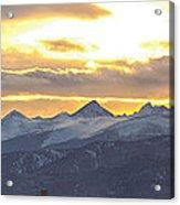 Colorado Front Range Panorama Gold Acrylic Print