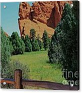 Colorado Garden Of The Gods From The Trail Acrylic Print