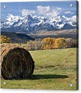 Colorado Haybale Acrylic Print