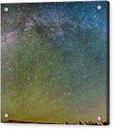 Colorado Indian Peaks Milky Way Panorama Acrylic Print