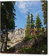 Colorado Mountain Hike Acrylic Print by Michael J Bauer