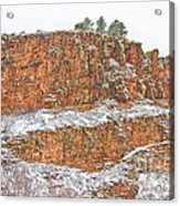 Colorado Red Sandstone Country Dusted With Snow Acrylic Print