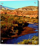 Colorado River Acrylic Print by Eva Kato