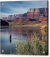 Colorado River Fisherman Acrylic Print