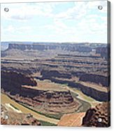 Colorado River From Dead Horse Point  Acrylic Print