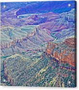 Colorado River From Walhalla Overlook On North Rim Of Grand Canyon-arizona Acrylic Print
