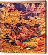 Colorado River 1 Mi Below 100 Miles To Vermillion Cliffs Utah Acrylic Print