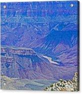 Colorado River Two At Cape Royal On North Rim Of Grand Canyon-arizona Acrylic Print
