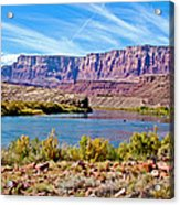 Colorado River Upstream From Boat Ramp At Lee's Ferry In Glen Canyon National Recreation Area-az Acrylic Print