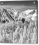 Colorado Rocky Mountain Autumn Magic Black And White Acrylic Print