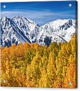 Colorado Rocky Mountain Autumn Magic Acrylic Print