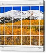 Colorado Rocky Mountain Autumn Pass White Window View  Acrylic Print