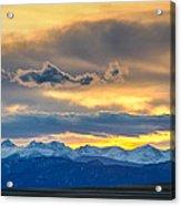 Colorado Rocky Mountain Front Range Sunset Gold Acrylic Print