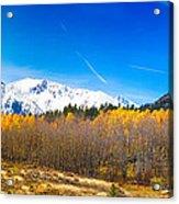 Colorado Rocky Mountain Independence Pass Autumn Pano 1 Acrylic Print