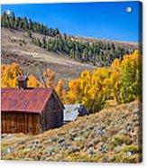 Colorado Rustic Rural Barn With Autumn Colors  Acrylic Print