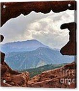 Colorado Siamese Twins Pikes Peak View Acrylic Print