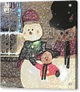 Colorado Snowman Family 1 12 2011 Acrylic Print