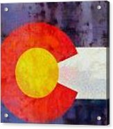 Colorado State Flag Weathered And Worn Acrylic Print