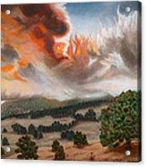 Colorado Wildfire-fern Lake Acrylic Print