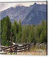 Colorado Wilson Peak Clouds Acrylic Print