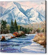 Colorado Winter On The Arkansas River Acrylic Print