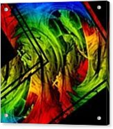 Colored Abstract Art Acrylic Print by Mario Perez