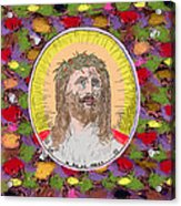 Colored Background Jesus Acrylic Print