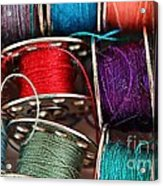 Colored Bobbins - Seamstress - Quilter Acrylic Print