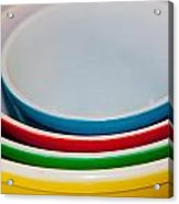 Colored Ceramic Bowls Acrylic Print