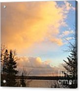 Colored Clouds Acrylic Print
