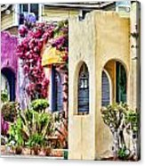 Colored Cottages By Diana Sainz Acrylic Print