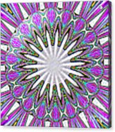 Colored Foil Lily Kaleidoscope Under Glass Acrylic Print