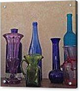 Colored Glass Acrylic Print