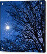 Colored Hues Of A Full Moon Acrylic Print
