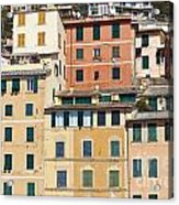 Colored Italian Facades Acrylic Print
