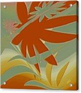 Colored Jungle Orange Splash Acrylic Print