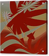 Colored Jungle Red Acrylic Print