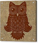 Colored Owl 2 Of 4  Acrylic Print