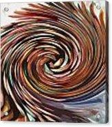 Colored Pencil Rose Acrylic Print