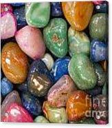 Colored Polished Rocks Acrylic Print